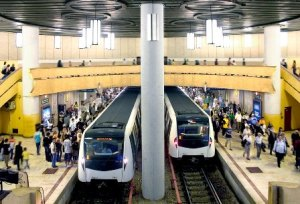 Vedere din staţia de metrou Piaţa Victoriei 2