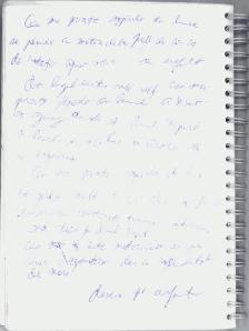 Pagină de caiet pe care am scris prima dată un poem despre o şopârlă cam ghinionistă
