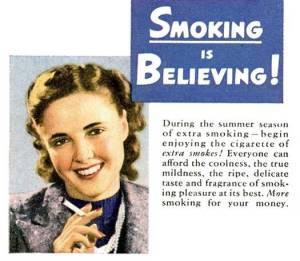 O reclamă care părea foarte OK în urmă cu vreo 50 de ani si care pare incredibilă azi! P.S. Click pe foto pentru imagine mărită