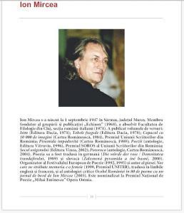 Facsimil din prezentarea lui Ion Mircea în revista Poesis International