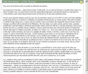 Printscreen-uri ale unei discutii despre filmul Filantropica (Nae Caranfil), care a avut loc pe forumul Pahico, în hattrick.org (5)