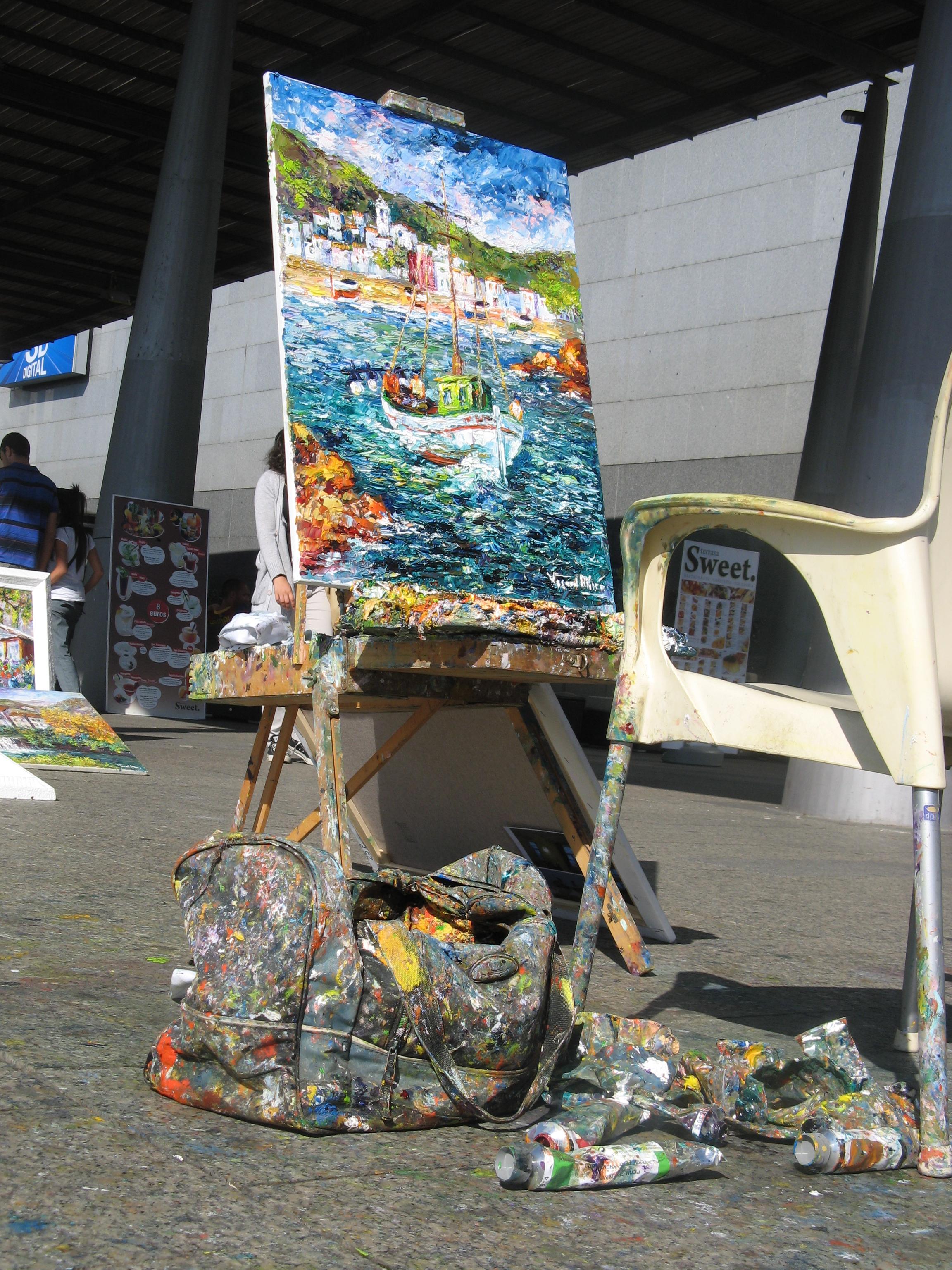 portul Barcelona, zona pictorilor