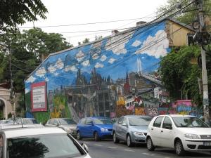 Peretele de la intersecţia străzilor Arthur Verona cu Dionisie Lupu, acum rebranduit (1). Foto: Calin Hera (aug 2011)