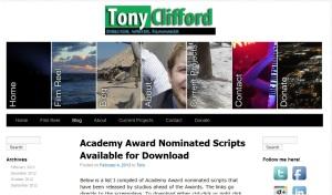 Site-ul lui Tony Clifford, regizor, scenarist american de origine irlandeză