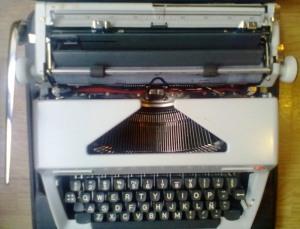 Maşină de scris Olympia. Alta, dar asemănătoare