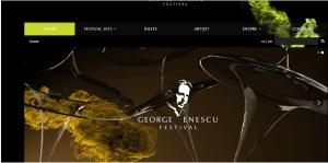 """Printscreen site Festivalul Internaţional """"George Enescu"""""""