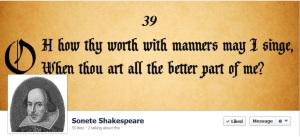 Cap de pagină de Facebook (Sonete Shakespeare). De văzut!