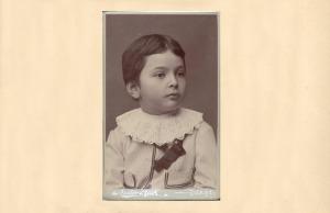 Copilul George Enescu. Fotografie de pe site-ul Festivalului Enescu