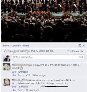 Exerciţiu de etufare pe o pagină de Facebook