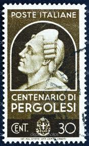 Timbru emis în Italia în onoarea lui Pergolesi