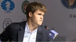 Magnus Carlssen,  noul  campion mondial la şah. Captură http://chennai2013.fide.com/