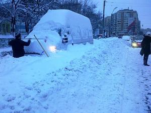 Vedere din București. Amintire de la mega-ninsoare. Foto: Călin Hera