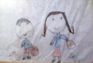 Băieţel şi fetiţă (de RH)