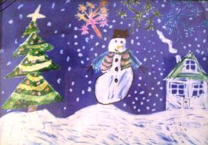 Om de zăpadă vesel (de RH)