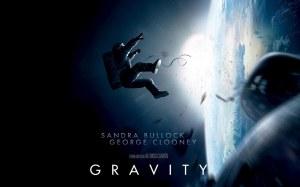 Afişul filmului Gravity, nominalizat la Premiul Oscar pentru cel mai bun film