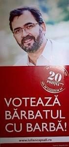 Fluturaş electoral Iulian Capsali, bărbatul cu barbă