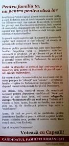 Fluturaş Iulian Capsali, bărbatul cu barbă, partea cu text.