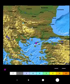 Locul unde s-a produs cutremurul din data de 24 mai 2014