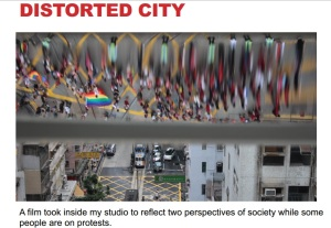 "Imagine din filmul ""Distorted city"", de Chloe Cheuk, despre preotestele din Hong Kong"