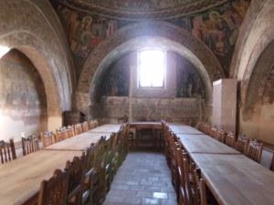 Sala de mese a măicuţelor de la Mănăstirea Horezu. Foto: Călin Hera