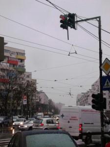 Vedere din Bucureşti. Soarele nu s-a mai arătat de 30 de zile. Foto: Călin Hera