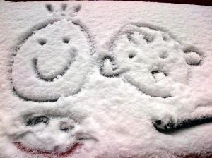 Desene pe lunetă într-o dimineaţă de ianuarie. Foto (cu telefonul) Călin Hera - mfc