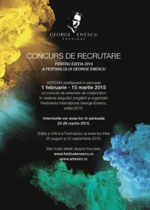 Concurs de recrutare colaboratori Festivalul George Enescu