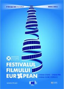 Afişul Festivalului Filmului European ediţia 2015