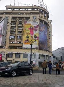Vedere din Bucureşti. Pietoni văzuţi de şoferi în Piaţa Unirii. Foto cu telefonul: Călin Hera (mfc)