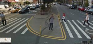 Victor Cozmei pe Google Street View. Sursa: Facebook