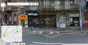 Inscripţia de la intersecţia Pache-Moşilor. Sursa: Google Street View