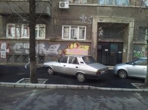 Vedere din București. Aeul pe bd. Carol. Foto cu telefonul: Călin Hera