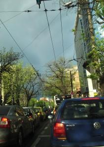Vedere din București. Dimineața pe Pache. Pache Protopopescu. Foto cu telefonul: Călin Hera