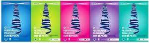 Afișele Festivalului Filmului European din București, Craiova, Iași, Tîrgu Mureș, Hunedoara. Sursa: ffe.ro