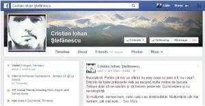 Mesajul de Paşte al lui Cristian Ştefănescu. Sursa: Facebook