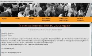 Demisia lui Laurențiu Damian din funcția de președinte al Senatului UNATC
