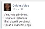 Poezioara lui Ovidiu Voicu. Sursa: Facebook