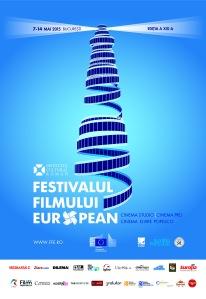 Afișul oficial al Festivalului Filmului European 2015 (ediția a 19-a)
