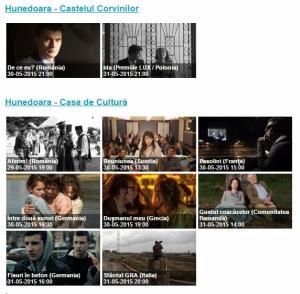Filmele ce vor fi proiectate la Hunedoara, Sursa: captură ffe.ro