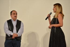 Amalia Enache şi Alexandru Bindea, după proiecţia filmului Aferim!, care a deschis Festivalul Filmului European la Hunedoara. Foto: Remus Suciu