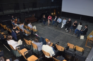 Imagine de la o dezbatere despre producție și coproducție. Foto: