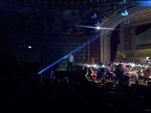 Vedere din București. Lancea, Der Speer, repetiția finală Parsifal, Ateneul Român. Foto cu telefonul: Călin Hera