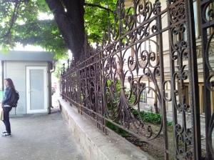Vedere din Bucureşti. Palat părăginit pe Lascăr Catargiu 56. Solid, destinat parcă ruinării. Schema cunoscută. Foto cu telefonul: Călin Hera