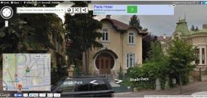 Vedere din Bucureşti. Casa cu uşă rotundă pe strada Paris 23. Sursa: google street view