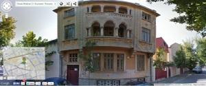 Vedere din București. Clădirea Editurii Cugetarea de pe strada Mătăsari 23, fotografiată de Google Street View în 2014