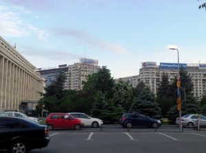 Vedere din Bucureşti. Soc la Palatul Victoria. Foto cu telefonul: Călin Hera