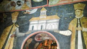 Imagine din biserica Mănăstirii Arnăuta. Foto cu telefonul: Călin Hera