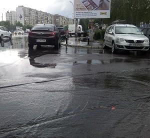 Vedere din București. Amintire de la ruperea de nori din 5 iulie, într-o zi ucigător de caniculară. Foto cu telefonul: Călin Hera