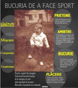 Infograf - Bucuria de a face sport. Sursa: InfoNaiv