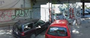 Vedere din București. În urmă cu un an, mașinuța Google fotografia peretele pe care nu era încă zâmbetul unic. Sursa: Google Street View